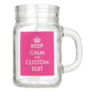 Custom Keep Calm party supplies mason jar mugs