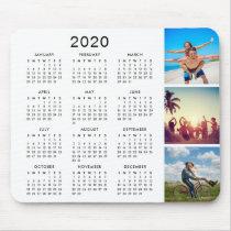 Custom Keepsake Memory Photo Collage 2020 Calendar Mouse Pad