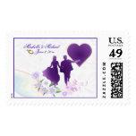 Custom Keepsake Wedding Shades of Lavender #2 Stamp
