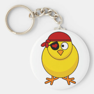 Custom Key Chains With Pirate Baby Chick