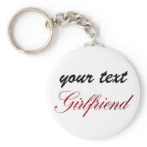 custom  keychain - girlfriend