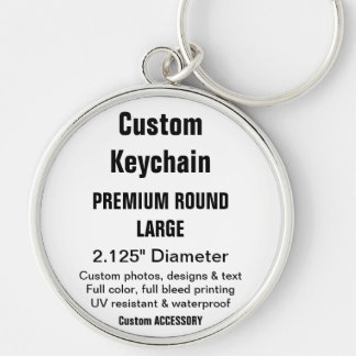Custom Keychain - Large Round Metal