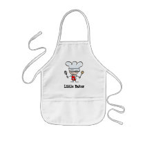 Custom kid's apron with little baker cartoon