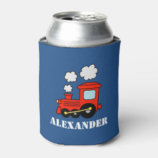 Custom kids Birthday party can coolers with train