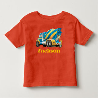 Custom Kids Concrete Mixer Construction Trucks Toddler T-shirt