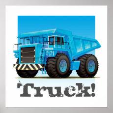 Custom Kids Giant Construction Mining Dump Truck Poster