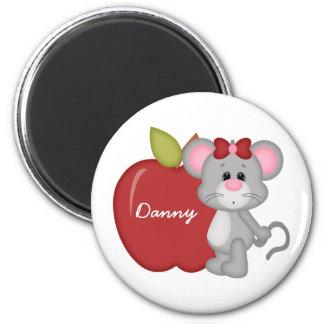 Custom Kids Mouse School Magnet