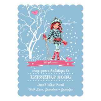 Custom Kid's Name Fun Christmas Cards