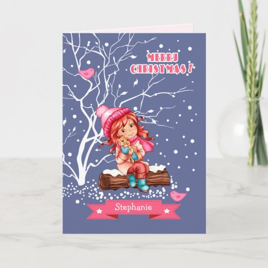 Humorous Christmas Cards.Custom Kid S Name Fun Christmas Cards