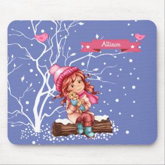 Custom Kid's Name Fun Christmas Gift Mousepads