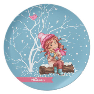 Custom Kid's Name Fun Christmas Gift Plates