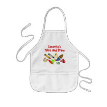 Custom Kids Paint Draw Arts and Crafts Kids Smock Kids' Apron