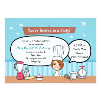 Custom Kids Party Invitation with Unique Artwork