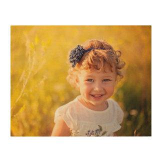 Custom Kids Photo Art Print on Wood