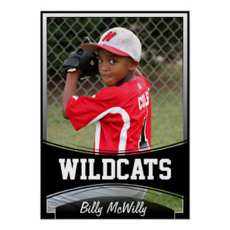 Custom Kids Sports Photo, Name and Team Posters