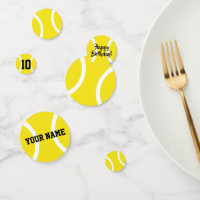 Custom kid's tennis Birthday party supplies Confetti