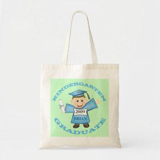 Custom Kindergarten Boy Graduate Canvas Bags