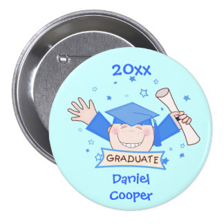 Custom Kindergarten Graduation Button Boys Button