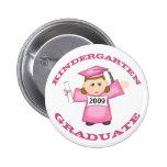 Custom Kindergarten Pink Girl Graduate Pinback Buttons