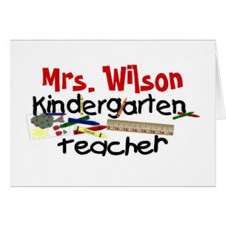 Custom Kindergarten Teacher Card