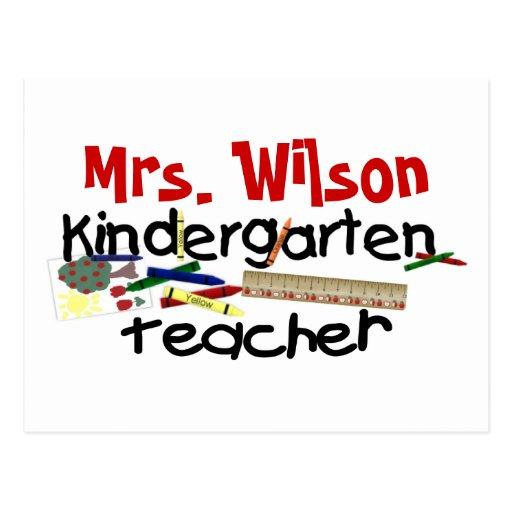 Custom Kindergarten Teacher Postcard