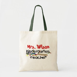 Custom Kindergarten Teacher Tote Bag