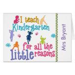 Custom Kindergarten Teacher's Notecards Stationery Note Card