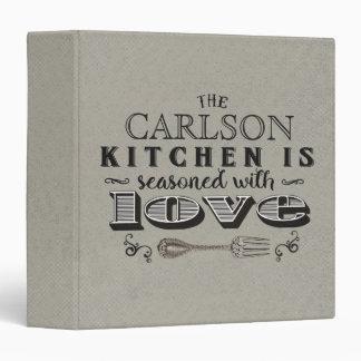 Custom kitchen seasoned with love recipe binder