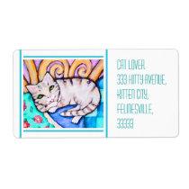 Custom Kitten Cat Lover's Mailing Label