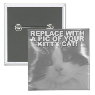 Custom Kitty Cat 2 Inch Square Button