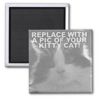 Custom Kitty Cat 2 Inch Square Magnet