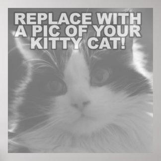 Custom Kitty Cat Poster