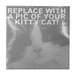 Custom Kitty Cat Small Square Tile