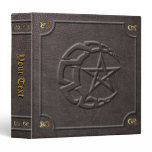 Custom Knotwork Moon & Pentacle Book of Shadows 3 Ring Binder