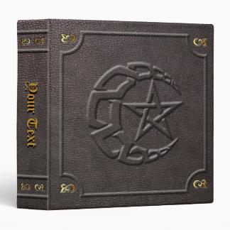 Custom Knotwork Moon & Pentacle Book of Shadows 3 Ring Binder