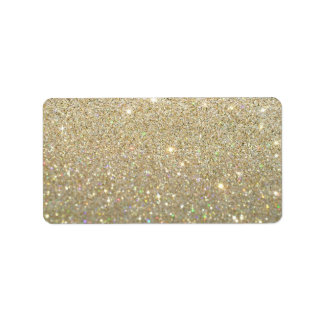 Custom Label - Gold Glit Fab