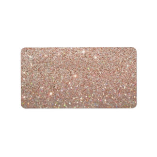 Custom Label - Rose Gold Glit Fab