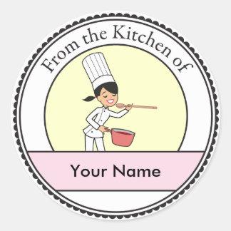 Custom Label Sticker with Kitchen Art
