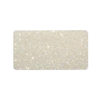 Custom Label - White Gold Glit Fab