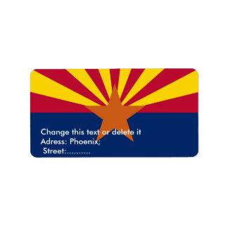 Custom Label with Flag of Arizona