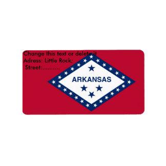 Custom Label with Flag of Arkansas