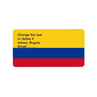 Custom Label with Flag of Colombia