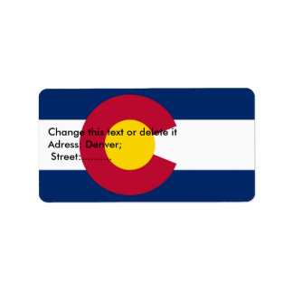 Custom Label with Flag of Colorado