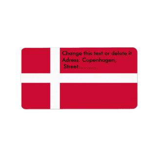 Custom Label with Flag of Denmark