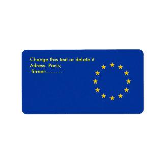 Custom Label with Flag of European Union