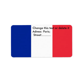 Custom Label with Flag of France