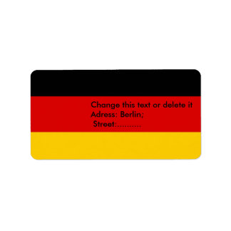 Custom Label with Flag of Germany