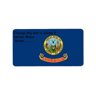 Custom Label with Flag of Idaho