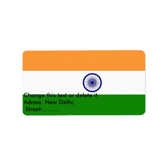 Custom Label with Flag of India