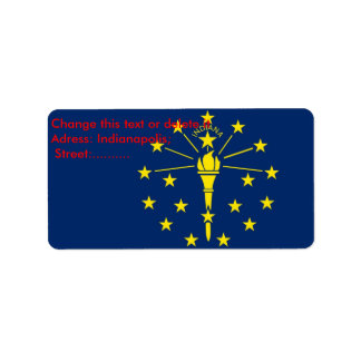 Custom Label with Flag of Indiana